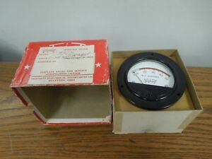 Triplett 3315 Modified Meter 0 5a W 0 50a Dial Red Lined 15 50a New Surplus