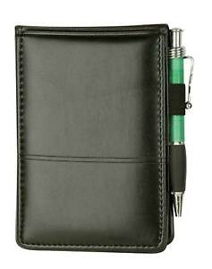 Executive Jotter Notepad Organizer With Business Card Slots And Pen Holder Black
