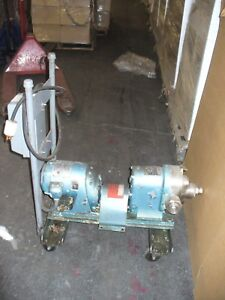 Waukesha Sanitary Pump Size 25 1 2 Hp On Cart W Square D Starter