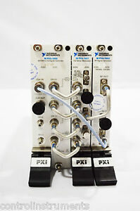 National Instruments Ni Pxie 5673e 6 6 Ghz Vector Sig Gener With Rf Tasted