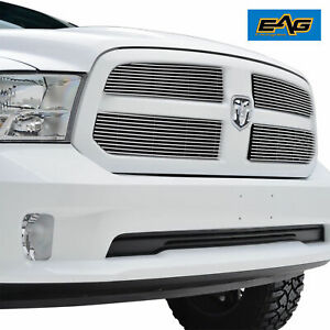 2013 2018 Dodge Ram 1500 Aluminum Insert Grille Polished Upper Overlay 4pcs