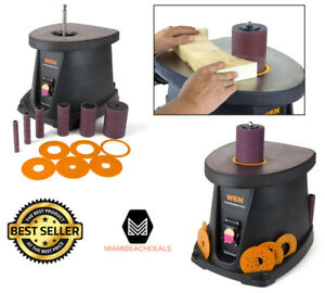 Oscillating Spindle Sander Bench Woodworking Power Tool Sleeves Plates Sanding