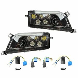 A Pair Led Headlight Conversion Kit Fit 2016 2018 Polaris General Rzr 1000 Xp