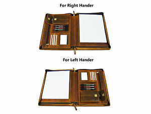 Zippered Genuine Leather Business Portfolio Easy To Carry Organizer Folder