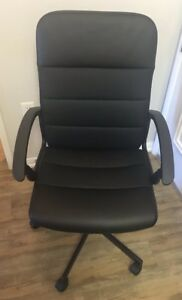 Ikea Fingal Swivel Office Desk Adjustable Chair With Casters Bomstad Black