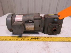 Boston Gear 34k29 872 10 1 Ratio 5hp 208 230 460v 3ph 1 Thru Shaft Gear Motor
