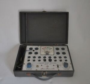 Vintage Superior Instruments Rapid Tube Tester Model 82a Manual Case