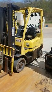 2005 Hyster S50ft Cushion Forklift Side Shift 3 Stage Mast