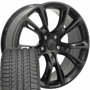 20 Rims Tires Fit Jeep Dodge Grand Cherokee Srt8 Black Wheels Gy Tires 9113