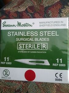 7 Boxes Of Swann Morton Stainless Steel Surgical Blades 100pack