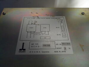 Okuma Spindle Motor Winding Changeover Unit Type Wchg 150a 150a Used 1113