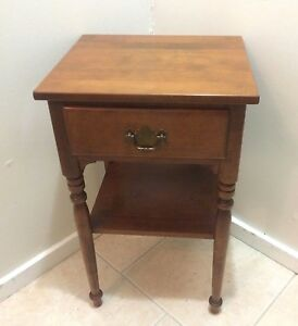 Ethan Allen Baumritter 1 Drawer Night Stand Table Made In Vermont