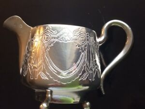 Great Original Rare Russian Imperial Silver 84 Decorated Creamer Antiques Russia