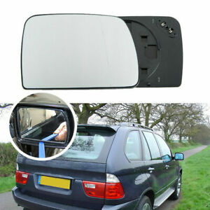 White Right Passenger Side Mirror Glass W Heating For Bmw X5 E53 2001 2006