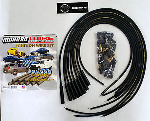 Moroso Mag tune Universal Spark Plug Wires Kit Hei Straight Boot unassembled