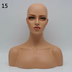 New Luxury Realistic Mannequin Head Fiberglass Hat Wig Glasses Mold Stand No 15