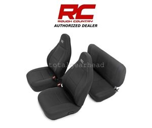 1997 2002 Jeep Tj Lj Wrangler Rough Country Neoprene Seat Covers Black 91000