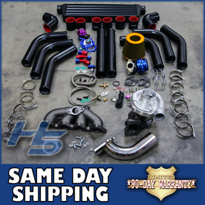 88 00 Honda Civic Eg Ek Sohc Turbo Charger Kit T3 T4 Manifold Intercooler Bov