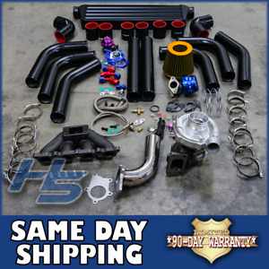 88 00 Honda Civic Eg Ej Delsol Turbo Charger Kit T3 T4 Manifold Intercooler Bov