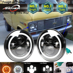 2xled Lamp For Chevrolet G30 G20 K30 C20 Van Pickup H4 Headlight Bulb Hi lo Beam