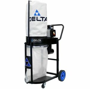 Black Dust Collector 1hp 2 Micron Filtration Bag Dust Collection W Motor