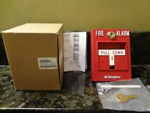 New Simplex 4099 9004 Pull Station Red Fire Alarm Free Shipping
