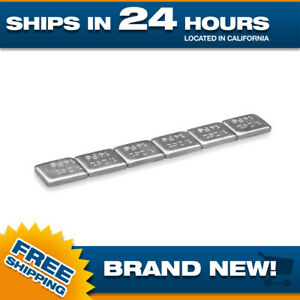 Wheel Weights Stick On Adhesive 1 2 Oz Or 14 Gram Zinc Coated Box Of 24 Pieces