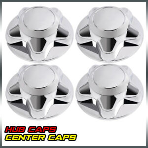 4pc 7 For Ford F150 97 03 Expedition Chrome Wheel Hub Cover Center Caps Durable