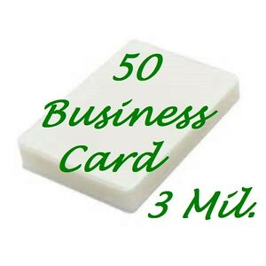 50pk Business Card Laminating Pouches Sheets 2 1 4 X 3 3 4 3 Mil Scotch Quality