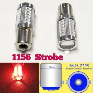 Strobe 1156 P21w 7506 33 Led Projector Red Bulb Rear Signal Light B1 For Vw U