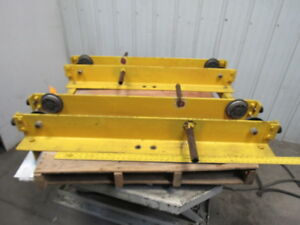Convertible Overhead Crane Single Girder End Trucks 1 Ton Capacity Lot Of 2