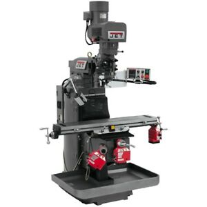 Jet 690504 Jtm 949evs Mill With X Y And Z axis Powerfeeds