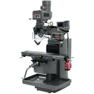 Jet 690606 Jtm 1050evs2 230 Mill With Acu rite Vue Dro With X axis Powerfeed