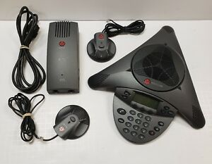 Polycom Soundstation Vtx1000 Conference Phone With Wall Module And Mics Bundle