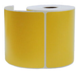 2000 Yellow Thermal Shipping Labels 250 roll For Zebra Printer 4 X 6