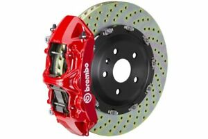 Brembo Gt Brake Kit Front 380mm 2 Pc Drilled 6 Piston Red Camaro Ss 2010 2015