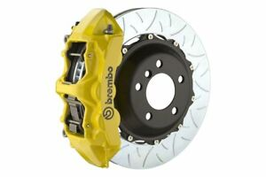 Brembo Gt Brake Kit Front 380mm Slotted Type 3 Yellow 987 Boxster Cayman 05 11
