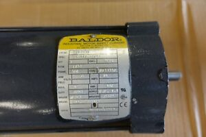 Baldor 1hp 1750rpm 56c Frame Tefc 180vdc Double Shaft Pm3435p Motor