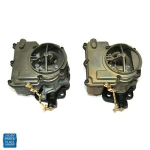 1964 1966 Gto Lemans Tri power End Carburetor Front And Rear