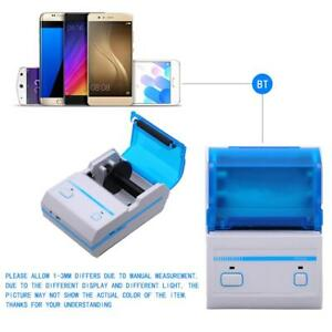48mm Bluetooth Thermal Receipt Printer 2d Barcode Mobile Pos Ticket Printing