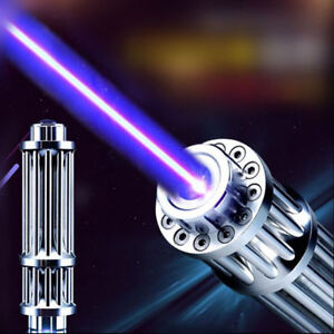 High Power Strong Purple Beam Laser Cannon Pointer Pen Torch Flashlight