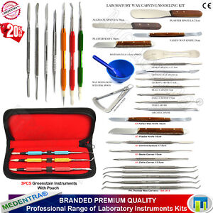 Range Of Laboratory Waxing Kits Carvers Plaster Alignate Mixing Knife Spatulas