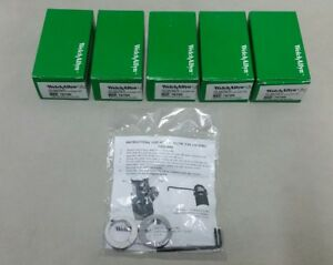 Welch Allyn 3 5v Heads Security Locking Collar Ophthalmoscope Otoscope Lot Of 5