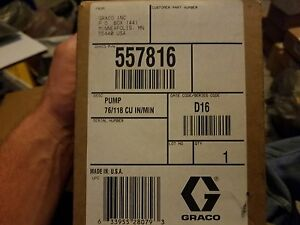 New Graco 557816 Meter flow Gear Pump 78 118 Cu min