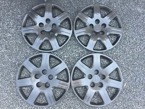 Oem Honda Civic Hubcaps Wheel Covers 2006 To 2011 16 Midnight Black 55069 1