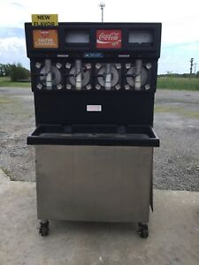Taylor 349 27 Carbonated 4 Flavor Frozen Icee Slushie Drink Machine 1 Phase 1