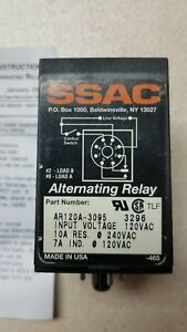 Ssac Macromatic Alternating Relay 120vac Spdt 10a 8 pin Ar120a