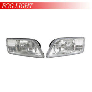 2003 2006 Honda Accord Assembly Driving Fog Lights Clear Bumper W Switch