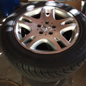 Mercedes Oem 16 Rims With 225 55r 16 Tires Set Of 4