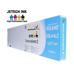Roland Esl4 4 Eco solvent Max2 Compatible 440ml Ink Cartridge Light Cyan